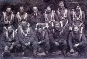 Group photo including Sgt Frank Buck