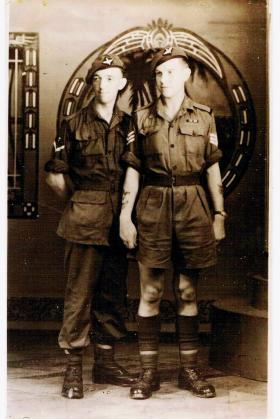 Two members of 7th (LI) Para Bn Singapore 1945