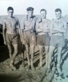 Four members of No 1 (Guards) Independent Company, Cyprus, 1956.