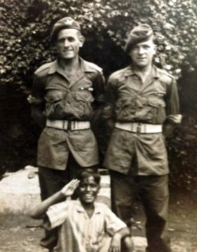 CSM 'Fred' Pengilly with unknown, Far East 1945.