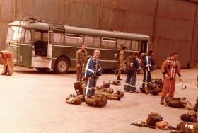 PSI Sgt Quinn, 3 PARA, Freefall Training, Pau France, 1981.