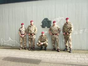 Some of the Senior NCO's of the 2 PARA group that carried out a battlefield tour on 18 September 2015