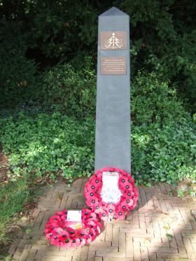 The 1st Airborne Reconnaissance Squadron Memorial marker at Oosterbeek, taken 18 September 2015.