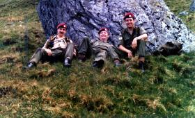 Members of 1 Para Provost Pln RMP (V) on exercise in Scotland, June 1974.