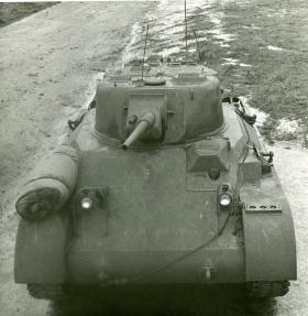 Front overhead view of the M22 Locust, c.1944