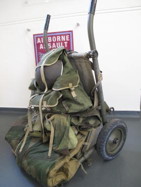 A fully laden airborne trolley from the Airborne Assault Museum Collection, Duxford, 2012.