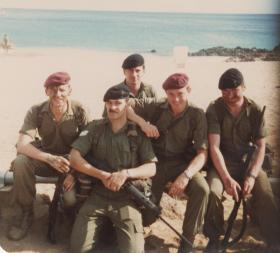 Pte Baines Signals Platoon 3 PARA with 40 Sigs Rear Link and Cpl Lance Preston REME, Ascension Island 1982