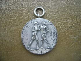 Boxing medal awarded to Sgt Midwood, 1941.