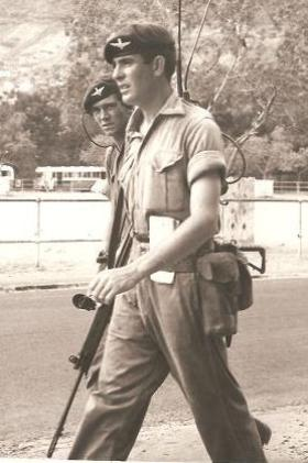 Pte Jim Gallagher 1 PARA on foot patrol
