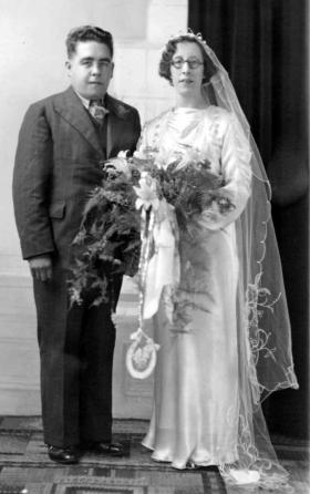 Charles and  Annie Gavaghan's wedding photo