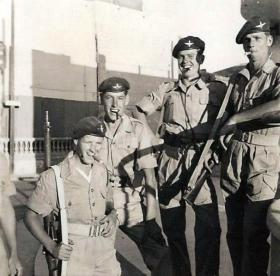 Members of No 1 (Guards) Independent Parachute Company, Nicosia, 1956.
