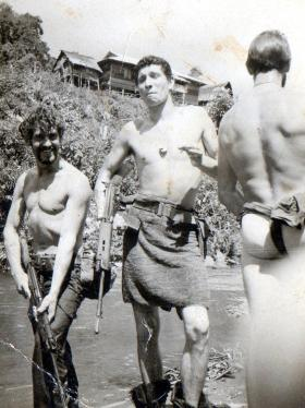 Gdsm Wybrow and Gdsm Flippence, No 1 (Guards) Independent Para Coy, Borneo,date unknown.
