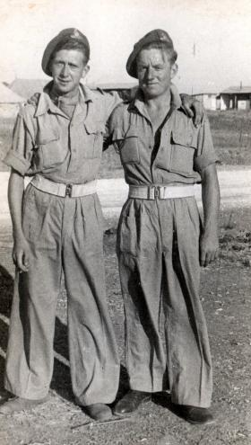 Gnrs Goodwin and Percy Lemon, 211 Airlanding Light Battery RA, 22 May 1946.