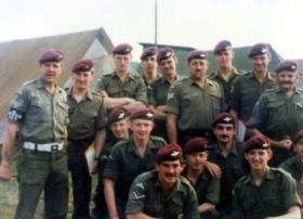 Members of 4 PARA, Germany, 1981.