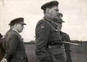 General Gale at the unveiling of the plaqueat Harwell May 1955.