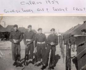 George Parry and colleagues, 2 PARA, Cyprus, 1959
