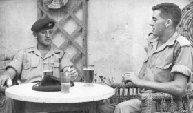 George Glover relaxing in Cyprus