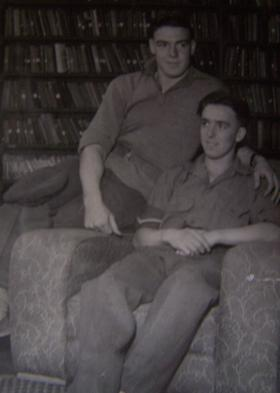 L/Cpl Arnold and colleague possibly Germany 1948
