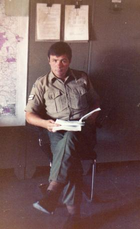 Corporal Paxton in Germany, c1976.