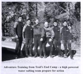 Members of 2 PARA on adventure training in Canada, September 1999