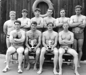 Group photo of Parachute Squadron RAC Swimming Team