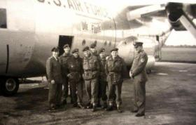 Goodwill gathering of US Airforce and UK paratroopers. RAF Abingdon. October 1957.