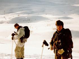 'Ginge' Mason and Greg Allen, 1 PARA, Norway, c1987.