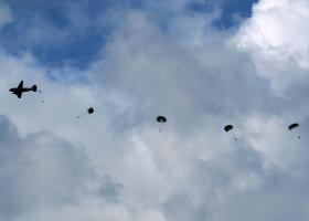 Commemorative jump from a Dakota, Ginkelse Heide, 22 September 2012.