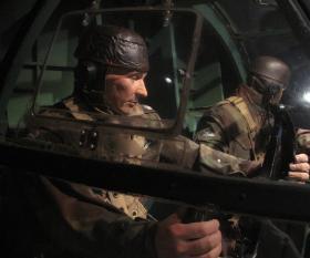 Glider Pilot figures in the Horsa Cockpit, Airborne Assault, Duxford