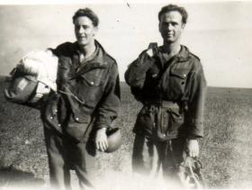Cpl George Miller and unknown, Palestine, c1945.
