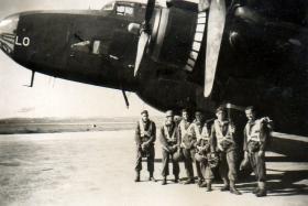 Troops ready to emplane for jump in Palestine, c1945.