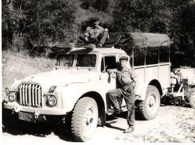 Gnr Tony Lynham and colleague from 33 Para Field Regiment, Cyprus 1956