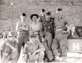 Gunners Blackburn and McLeod with French soldiers loading at Famagusta, 1956