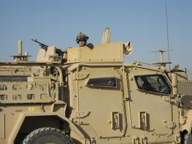 View of Husky TSV, Afghanistan, 2010