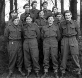 Reginald Gould with members of the RAF Regiment, c1944.
