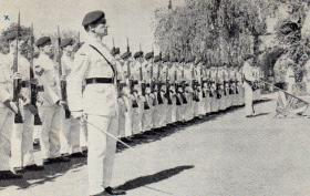 George Parry in the 2 PARA Guard of Honour for the Governors farewell, Cyprus, 1959