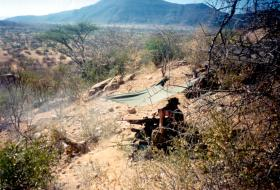 GPMG Firing, Archers Post, Kenya, 1989.