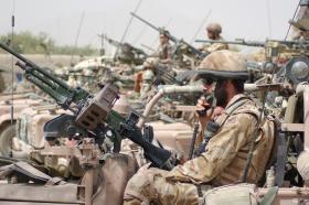GPMG mounted on a WMIK, Musah Qaleh, Afghanistan, Op Herrick IV, 2006.
