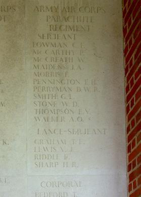 Panel 8, Groesbeek Memorial