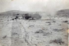 Guns of 53rd Airlanding or 33rd Airborne Light on firing exercise in Palestine