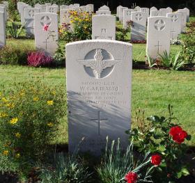 Gravestone of L/Cpl W Garibaldi, Oosterbeek War Cemetery, Arnhem.