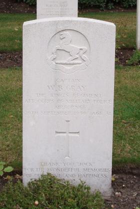 The Headstone of Captain Jock Gray