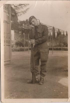 Pte William A Ramsay, Greece 1945.