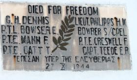 Memorial plaque at St Elias Church in Kozani, Greece, undated.