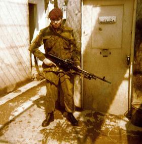 Pte Greg Allen, 1 Platoon, A Coy, 1 PARA, Crossmaglen, Northern Ireland, 1978.