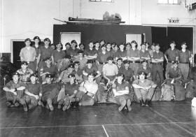 Members of 16 Lincoln Company Newport Barracks Lincoln 1974