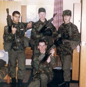 Members of 8 Platoon, Junior Parachute Company, 1987.