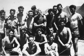 Group photo of men of 2 PARA on camp, Cyprus, 1958