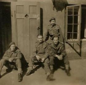 Group of paratroopers, including Harold 'Bill Williams, 1940s