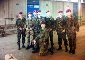 Signals Platoon,  C Company, 2 PARA, Aldershot,  1986.